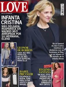 portada de la revista love infanta cristina