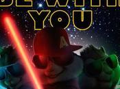 "nuevo póster ""alvin ardillas: fiesta sobre ruedas"" parodia stars wars"