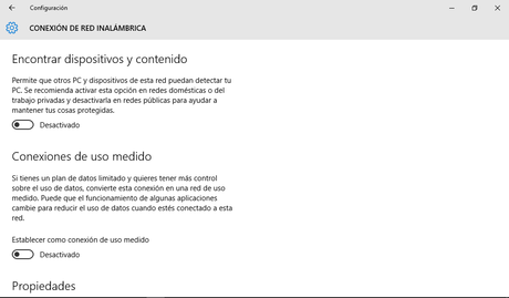 Windows 10 - Configuracion - Red Inalambrica