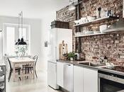DECO fabuloso piso blanco, negro pared obra vista