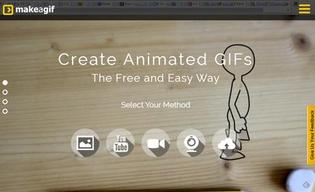 MaKe a Gif  para crear contenido visual. Marketing de Contenidos