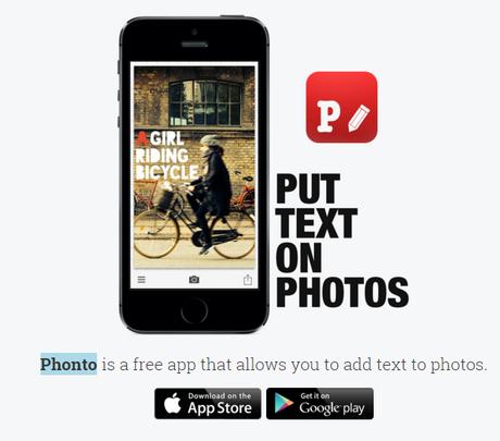 PHONTO para crear contenido visual. Marketing de Contenidos
