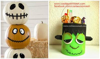 Manualidades adornos para halloween en foami paso a paso - Calabazas decoradas manualidades ...