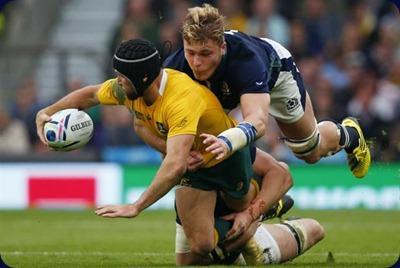 Australia venció a Escocia 35-34 con un penal en el último minuto.