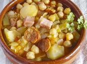 Garbanzos verduras chorizo panceta