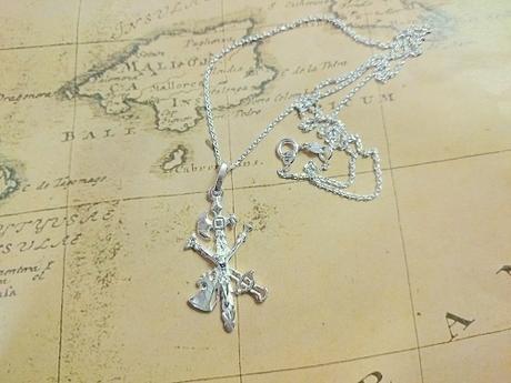cruz del cristo de la legion en plata