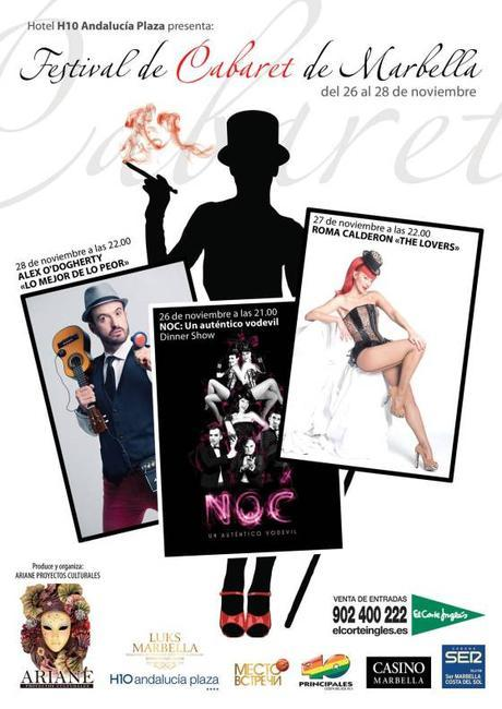 El primer Festival de Cabaret de Marbella con NOC, Álex O'Dogherty y Roma Calderón