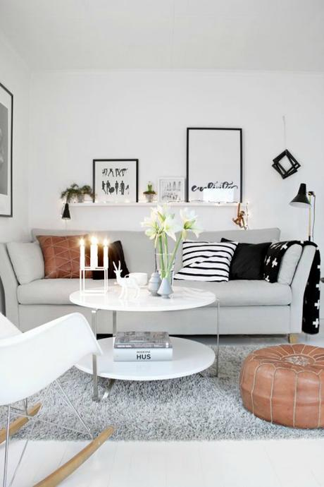 deco ideas para decorar tu saln con pufs