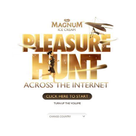 Magnum pleasure hunt across the internet