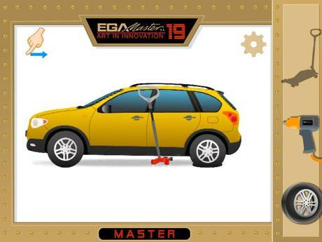 Ejemplo de pantalla de EGA Master Tool Game