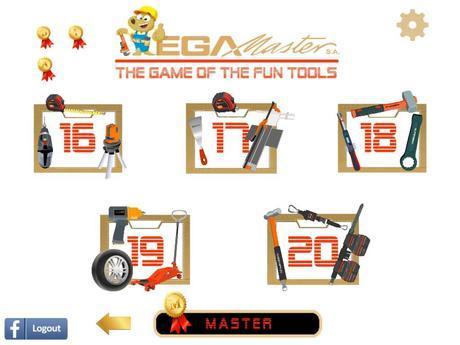 Pantalla del menú de EGA Master Tool Game