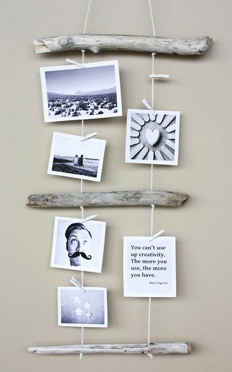 Ideas para colgar posters y fotos sin marco paperblog - Ideas para colgar fotos en casa ...