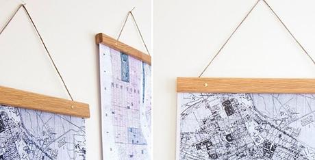 Ideas para colgar posters y fotos sin marco paperblog - Como enmarcar un poster en casa ...