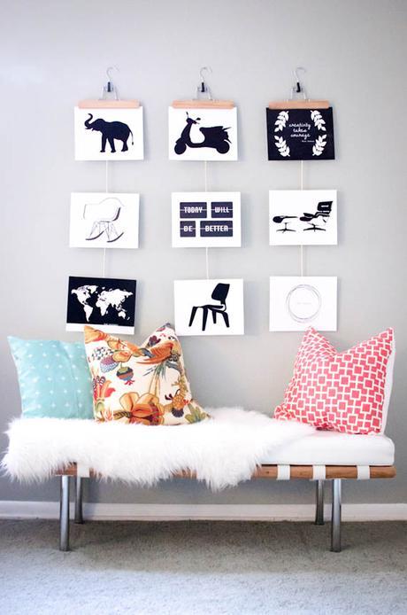 Ideas para colgar posters y fotos sin marco paperblog - Perchas pantalones ikea ...