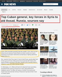 Falsa noticia de tropas cubanas en Siria: ¿sólo un nuevo bulo para ganar audiencia, o mucho más? [+ video]