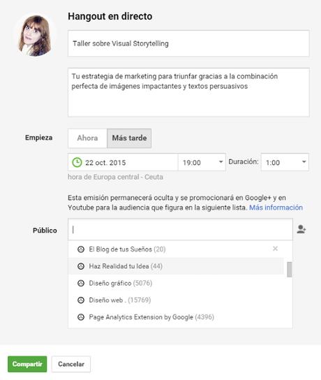 Cómo organizar y grabar un Hangout en Directo con Youtube