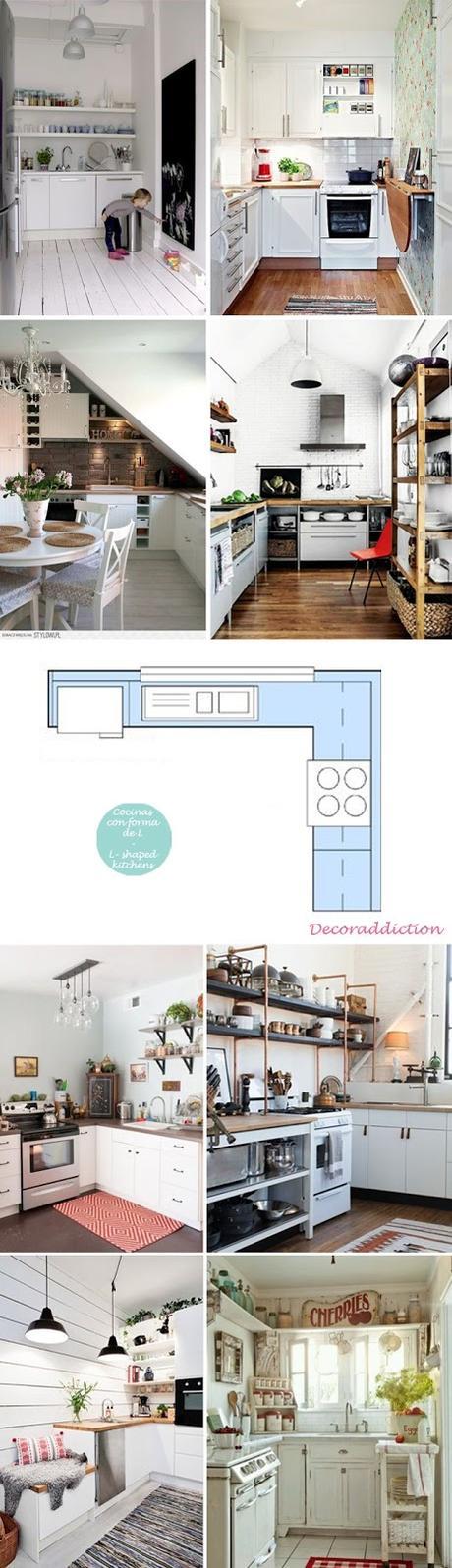 Ideas cocinas peque as en forma de l paperblog for Cocinas modernas pequenas en forma de l