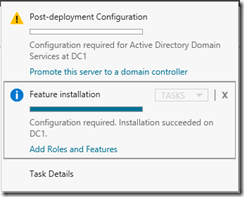 Instalación de controlador de dominio en Windows Server 2012 R2