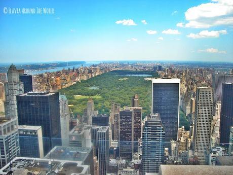 Vistas de Central Park desde el edificio Rockefeller