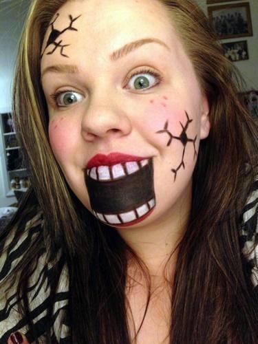 Eeyore Face Paint