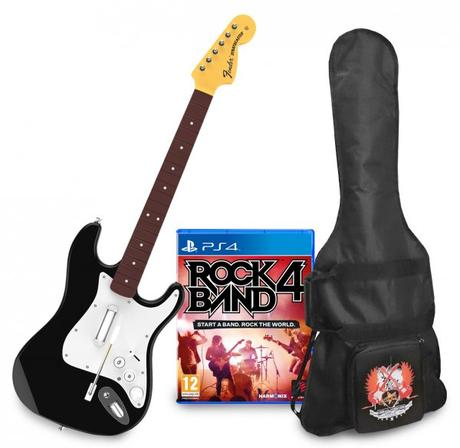rockband4 guitarra y funda ps4