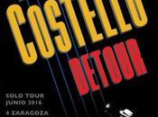"""Detour"" Elvis Costello pasará Zaragoza, Madrid Sebastián"