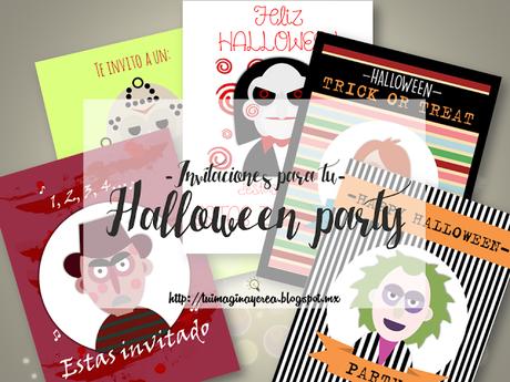 Invitaciones para tu Halloween party.