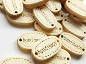 """Etiquetas madera """"Hand Made"""""""