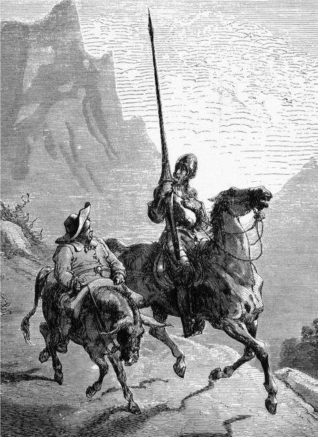 Don Quijote y Sancho Panza. Gustave Doré. 1863