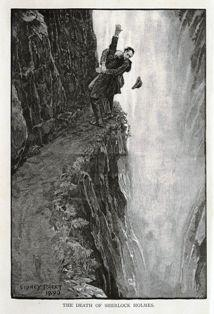 Sherlock Holmes and Moriarty at the Reichenbach Falls. Inshala. DrBat