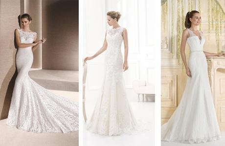 Vestidos con puntilla novias 2016