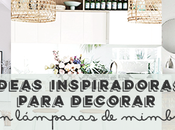 Ideas inspiradoras para decorar lámparas mimbre