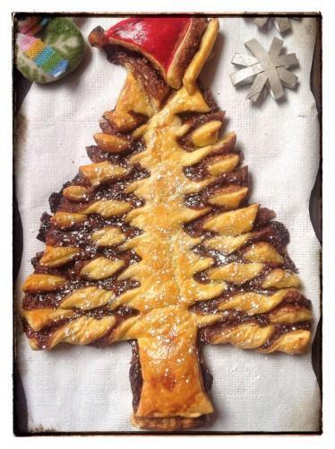 Especial navidad rbol de navidad de hojaldre y nutella - Postre especial navidad ...
