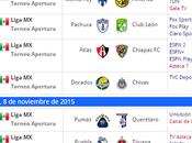Programacion jornada futbol mexicano