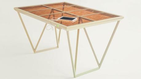 ENERGIA SOLAR : Mesa para cargar tu celular .