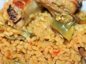 Arroz verduras costillas
