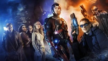 Imagen promocional del crossover entre #TheFlash, #Arrow y #LegendsOfTomorrow