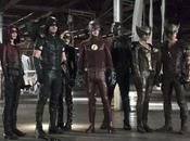 Imagen promocional crossover entre #TheFlash, #Arrow #LegendsOfTomorrow