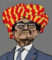 esperpento catalán: Montaje tragicómico antagonistas falsarios
