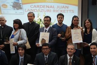 """ENTREGA DEL PREMIO NACIONAL DE PERIODISMO """"CARDENAL JUAN LANDÁZURI RICKETTS"""" 2015"""