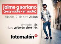 Jaime García Soriano nos espera en Fotomatón para presentar su libro