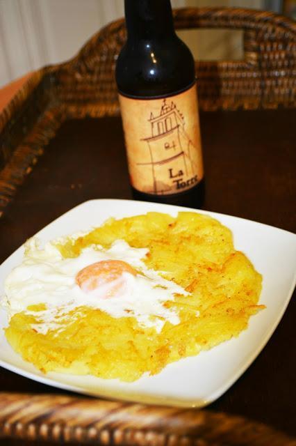 Tortitas de patatas con huevo