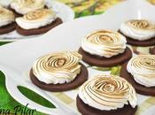 Galletas chocolate merengue rellenas nutella