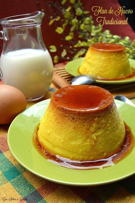 Flan de huevo tradicional paperblog - Como se hace el flan de huevo al bano maria ...