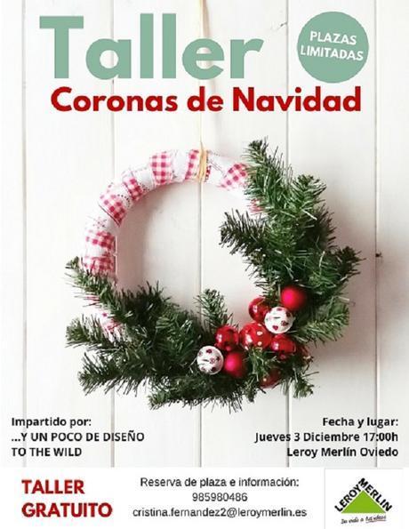 TALLER DE CORONAS NAVIDEÑAS EN LEROY MERLIN