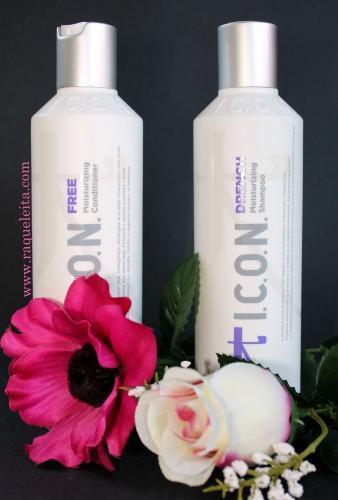 Hidratación y Nutrición para el Cabello con ICON Drench & ICON Free
