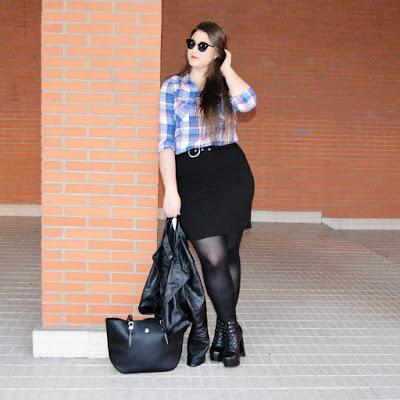 184b40347a Outfit of the day ~ Falda lapiz + cuadros - Paperblog