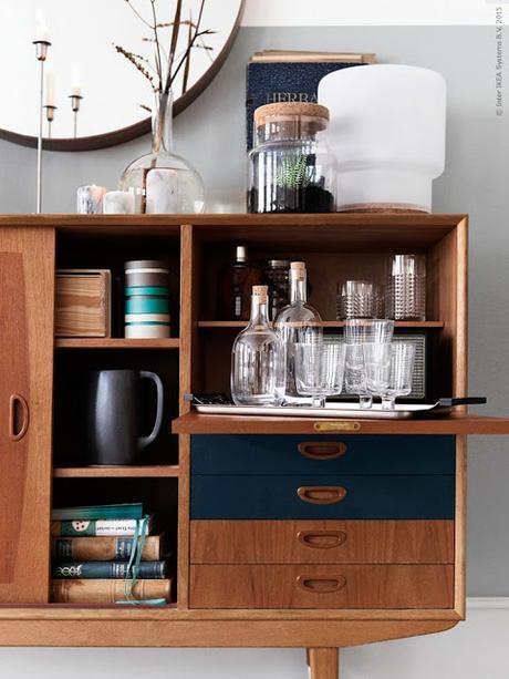 Armario Keter Escobero ~ Un aparador retro lleno de piezas de Ikea Paperblog