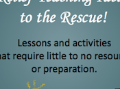 Relief Teaching Ideas Rescue!