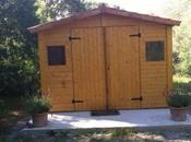 Resultado instalación caseta madera Christa Petra (MALLORCA)